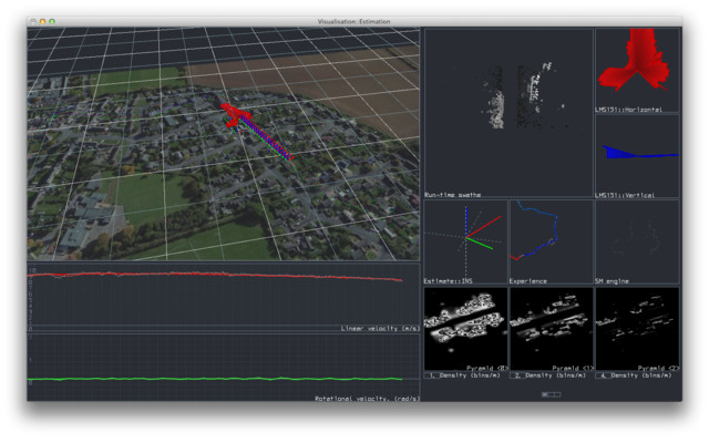 Long-term Localisation with LIDAR (software screenshot)